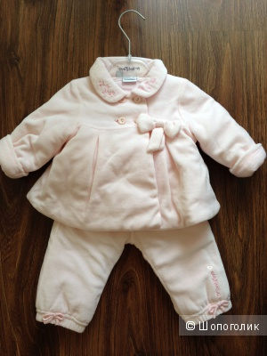 Детский итальянский осенний костюм плащик и штанишки от Primigi 6-9 месяцев