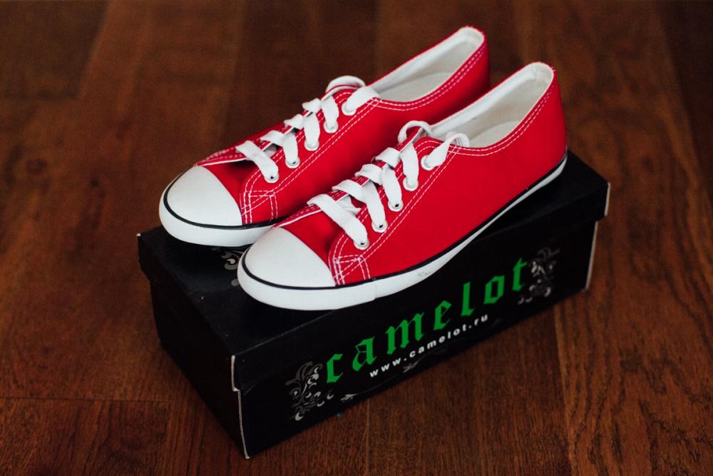 Красные кеды Camelot, новые, 37 р