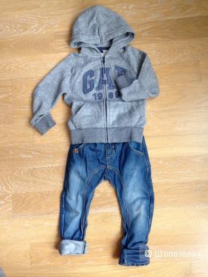Толстовка GAP+ джинсы Pompdelux 4-5лет