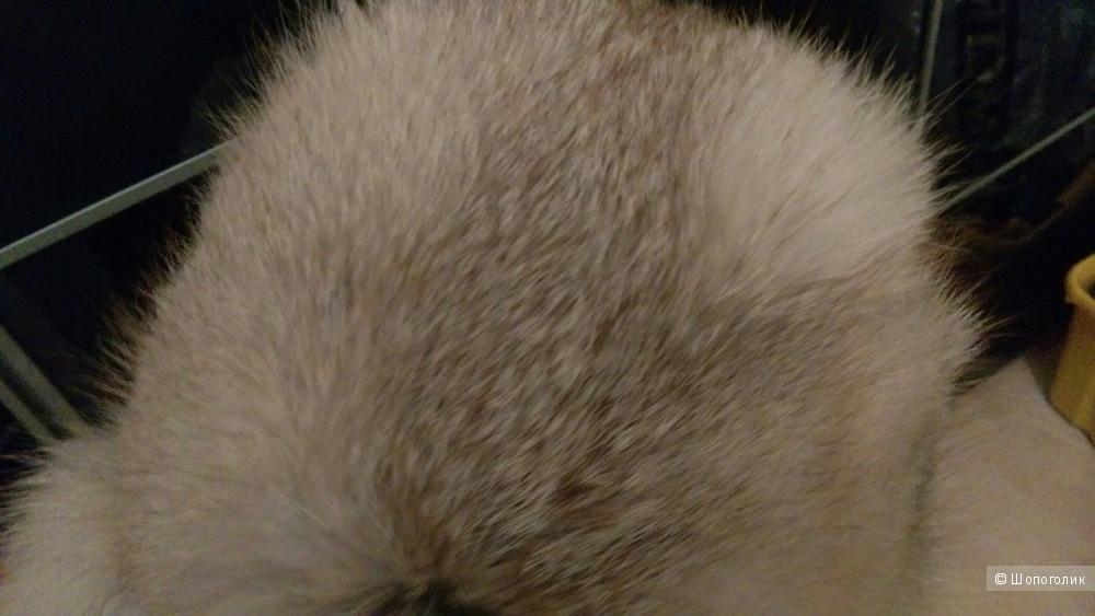 Шапка мех лисы ermanno daelli