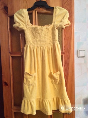 Махровое платье Juicy couture желтого цвета размер S