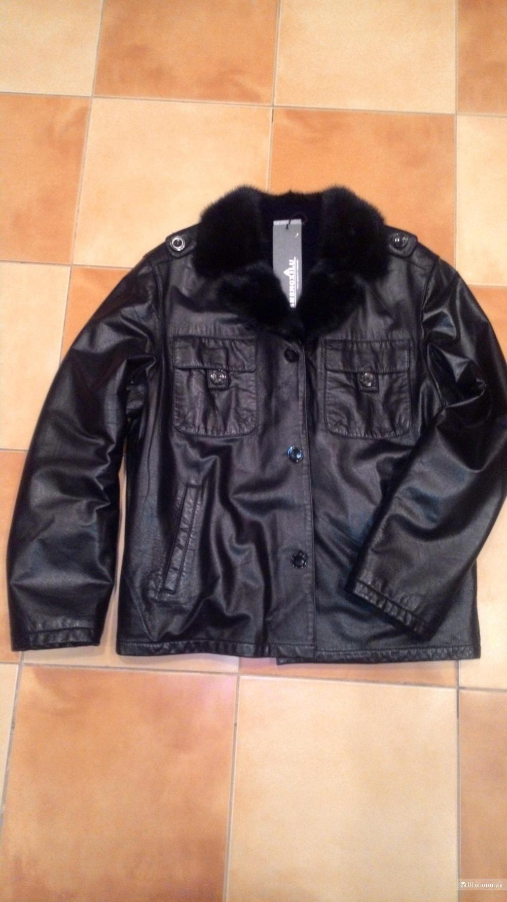 Кожаная куртка на меху новая Shengxilu 50-52 р.