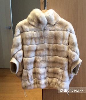 Меховая куртка из бобрика свободного размера 44-50
