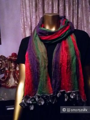 """Хлопковые шарфы-палантины """"Dialogue"""" Египет. 3 расцветки."""