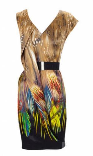 Шелковое платье Карен Миллен, оригинал, uk12