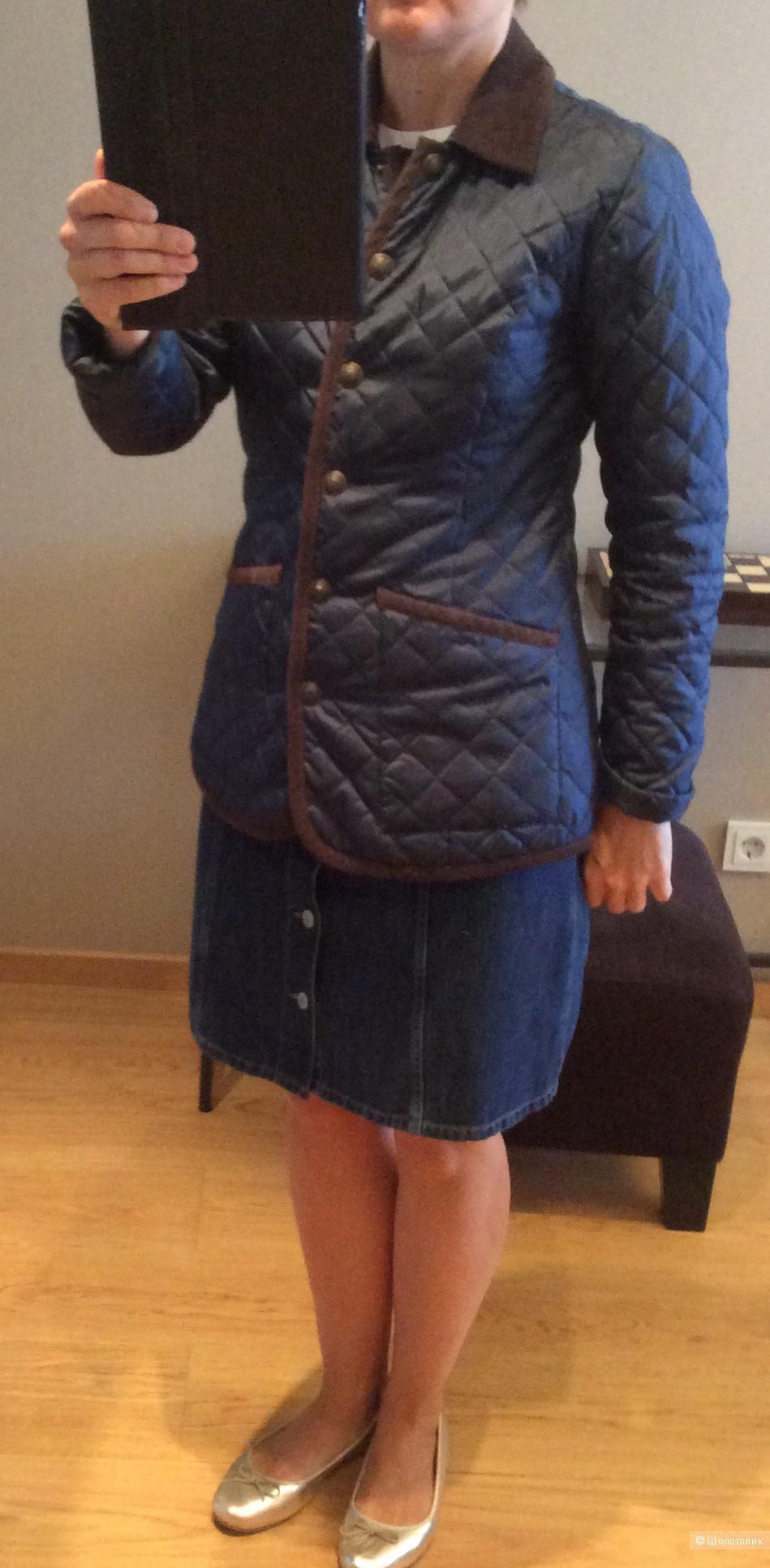 Лёгкая стёганая куртка р.46