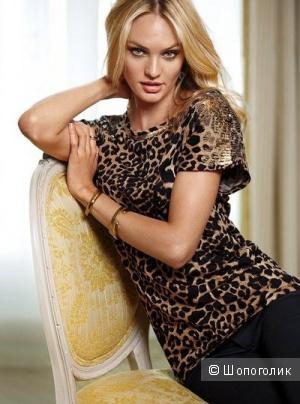 Леопардовый топ Victorias secret
