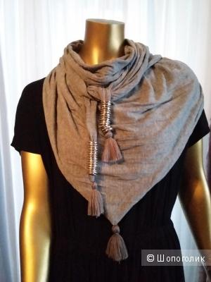 Стильный платок, шаль, палантин на шею. Италия
