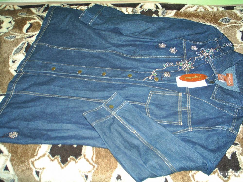 Liz & Me джинсовая рубашка 1X (18/20 US) plus size