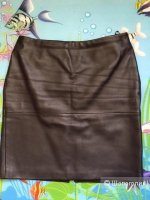 Кожаная юбка Benetton размер 46-48