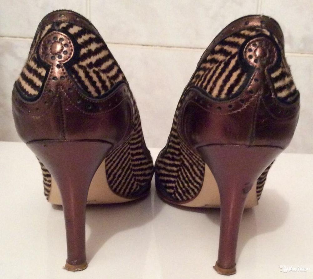 Туфли Etro из шкуры пони бу 37 размер
