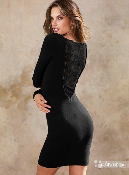 Платье трикотажное с кружевной спиной от Victoria's Secret xs