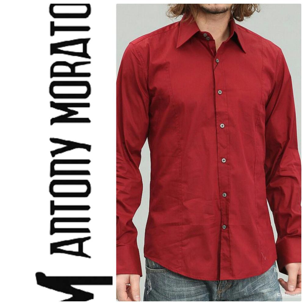 Antony Morato, 48: приталенные мужские рубашки-стрейч (лиловая и фуксия..живые фото ниже)