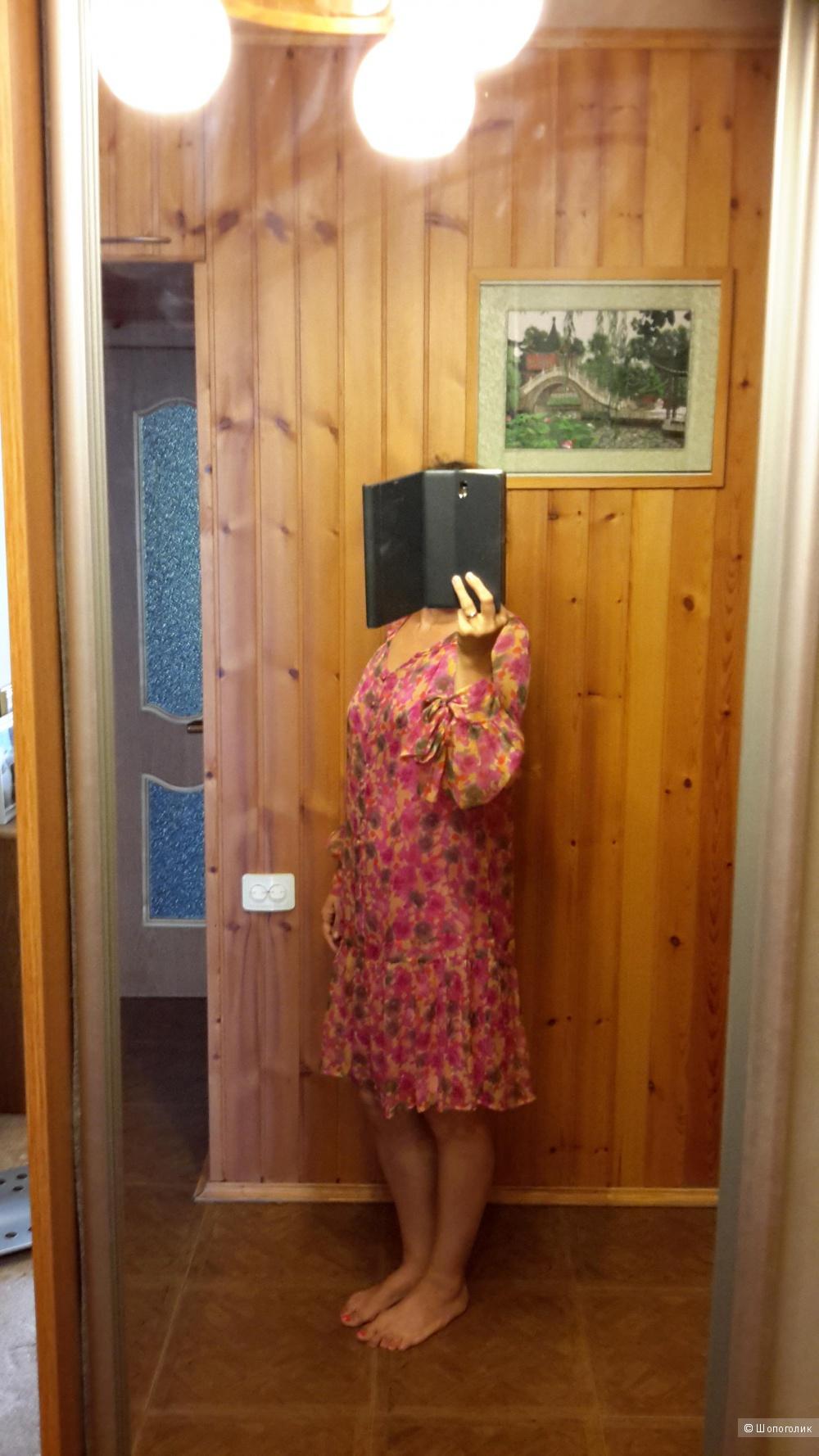 Платье Tintoretto размер евро 38 на наш 44-46 б/у 1 раз 100% шелк