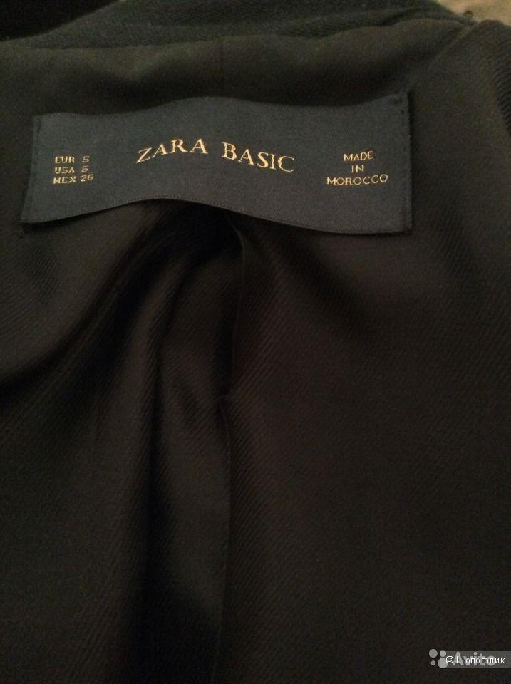 Тонкое пальто Zara Basic размер S цвет синий