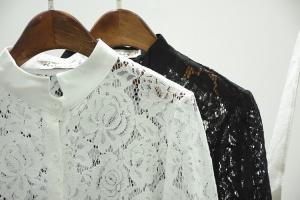 Кружевные рубашки белая и черная S