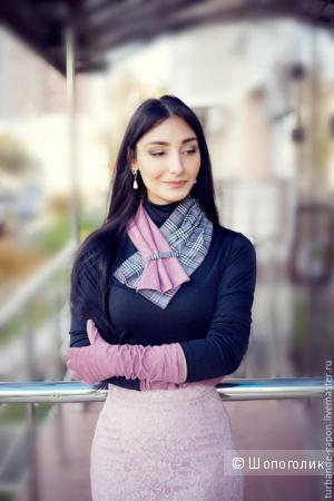 Новый шарфик, перчатки, снуд Анастасия Гапон. Оригинал.