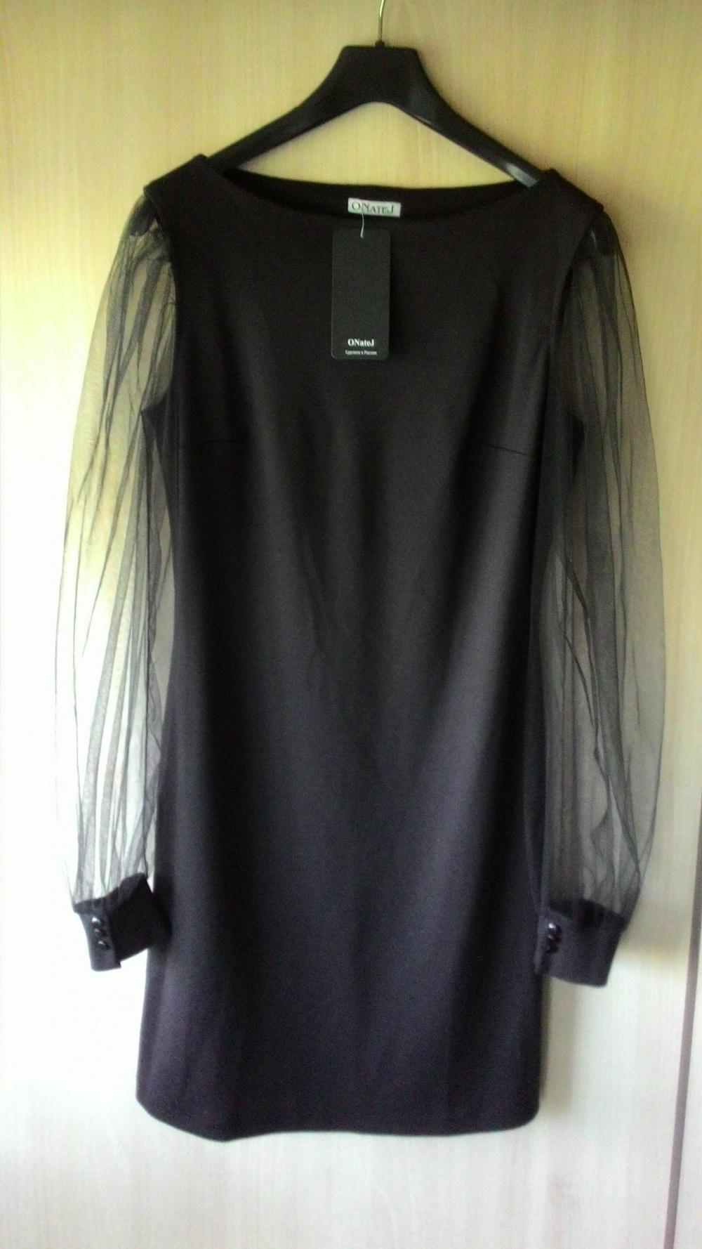 "Платье черное ""ONateJ"", р. 46"