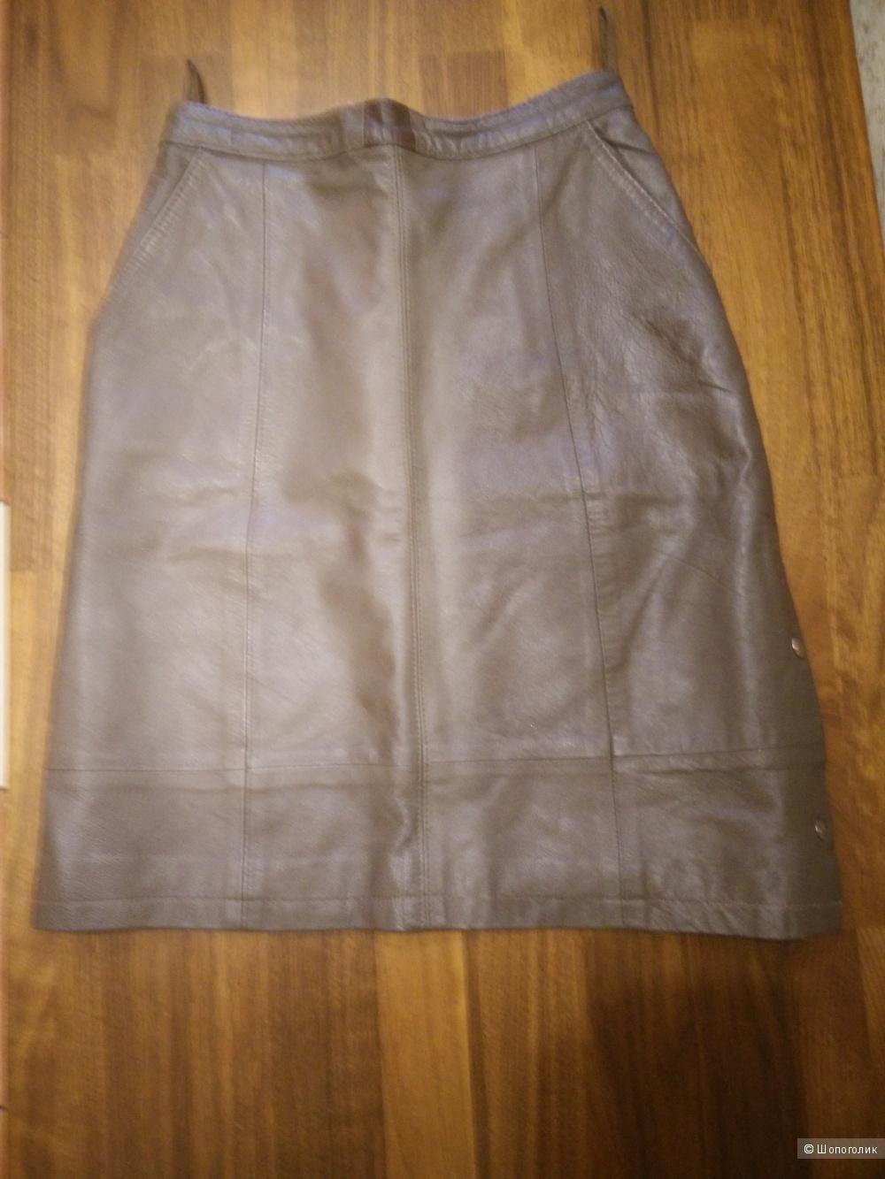 Кожаная юбка, размер с