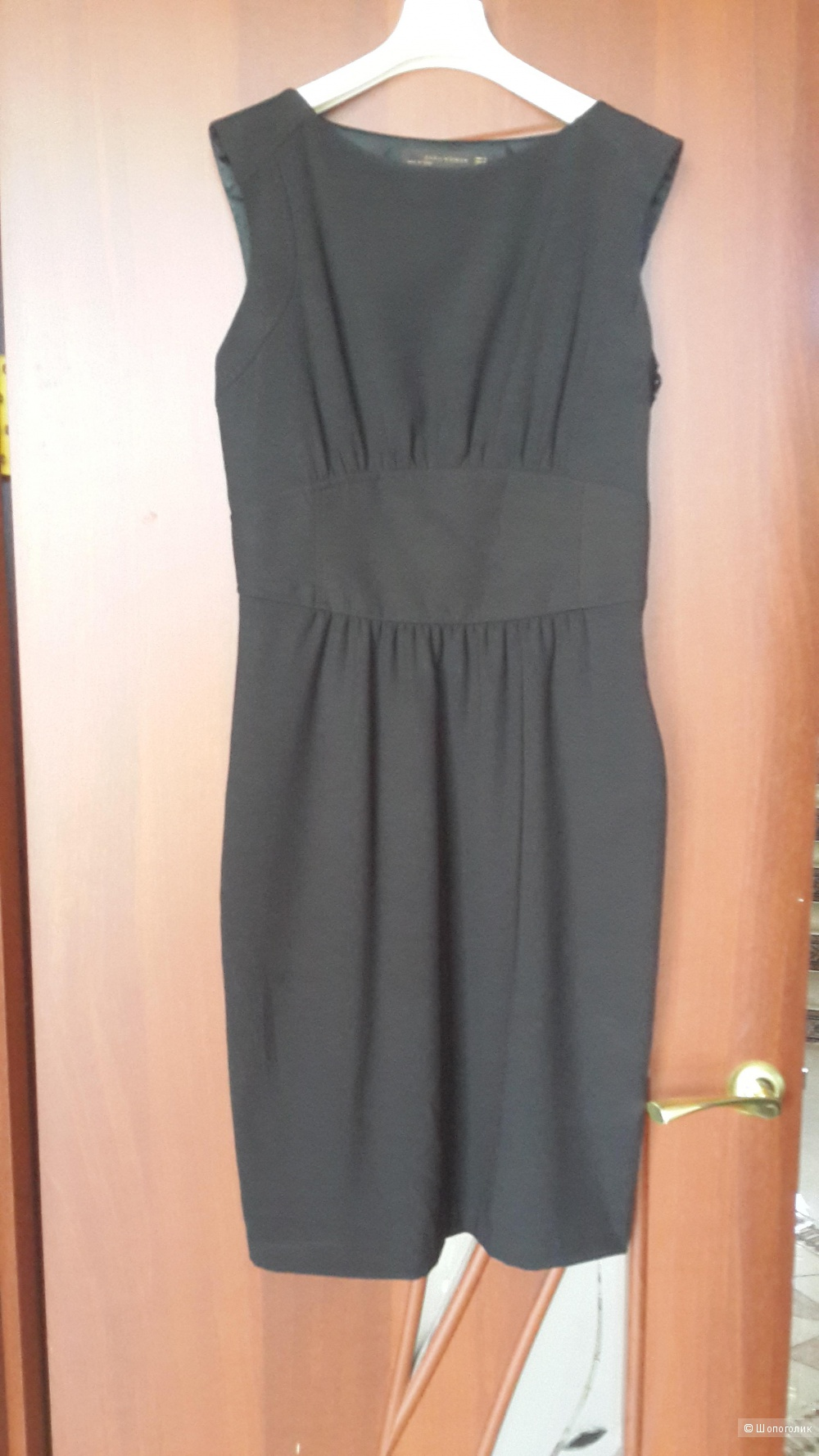 ffcc2743495 Платье футляр и в пир и в мир Zara Women черного цвета размер М