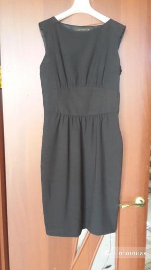 Платье футляр и в пир и в мир  Zara Women черного цвета размер М