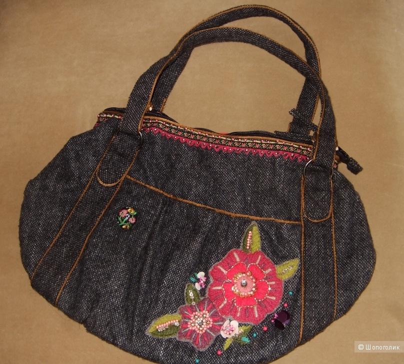Accessorize сумка твидовая с цветком