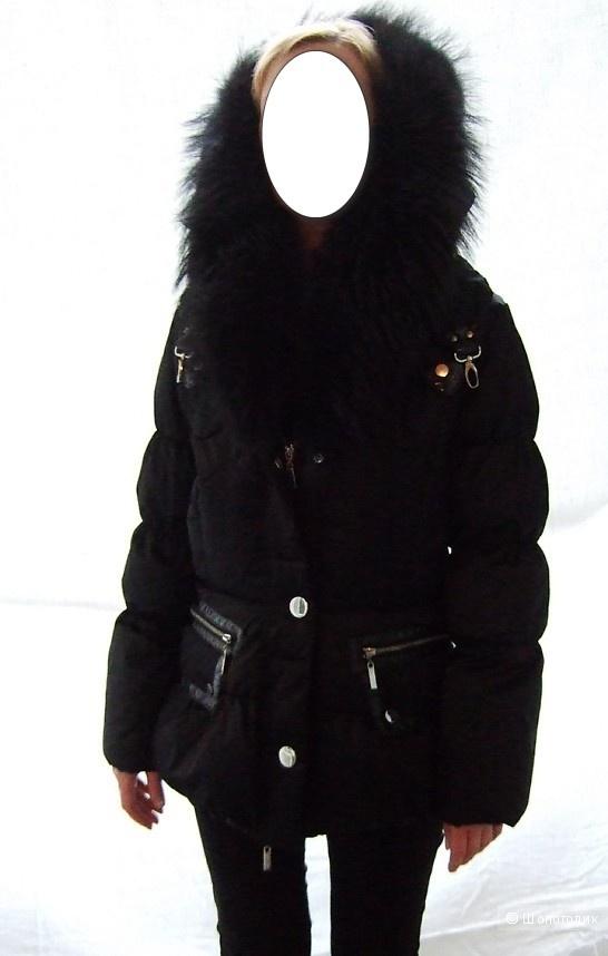 Пуховик куртка с мехом лисы