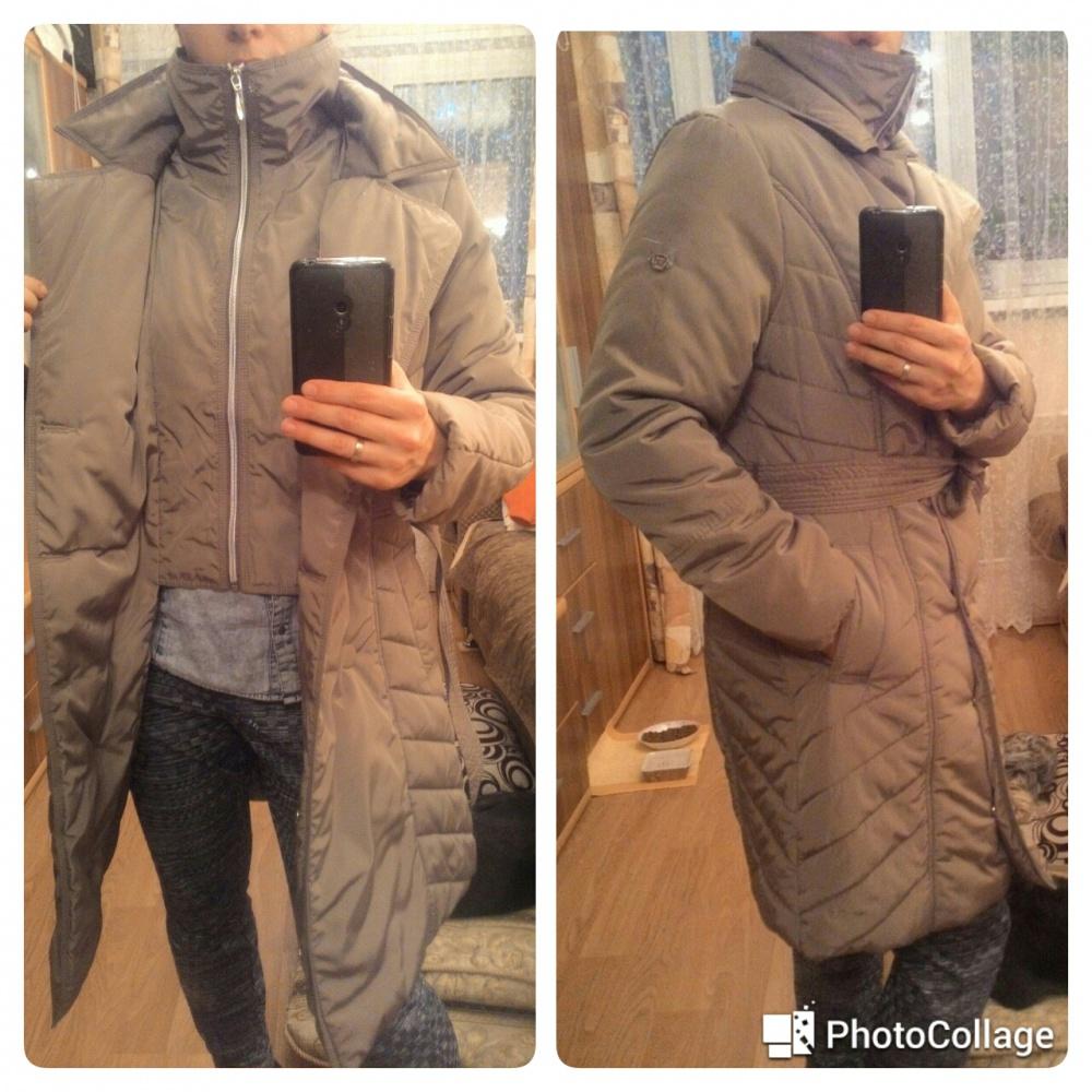 Куртка-пальто утепленная двубортная F5