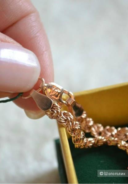 Золотая цепь 585 пробы, 45 см, 12 грамм