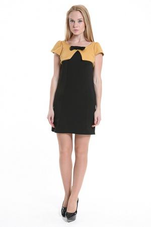 Платье с иммитацией болеро