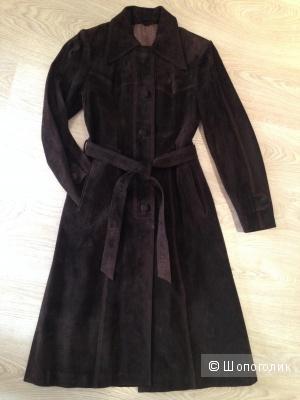 Замшевое пальто MODA, осень-весна