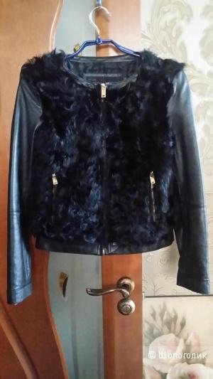 Кожаная куртка Zara Basic 40-42 размер