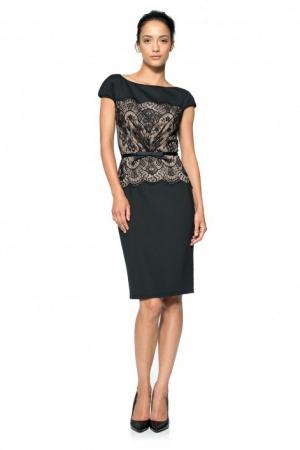 Шикарное платье от Tadashi Shoji со вставкой кружева р. 48 с ценником 365$
