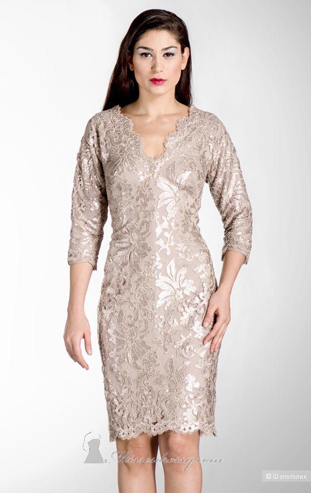 Кружево с пайетками платье