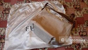 Сумка Furla оригинал бежевая 100% кожа б/у несколько раз
