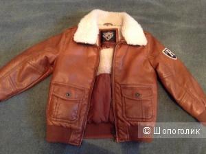 Куртка коричневая стильная размер 110 C&A