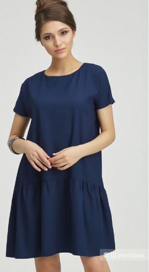 Синее платье размер 46/М