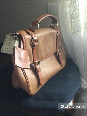 Новая сумка-планшет Massimo Dutti из телячьей кожи цвета Camel