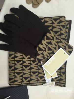 Michael KORS набор шарф+перчатки,новые с бирками