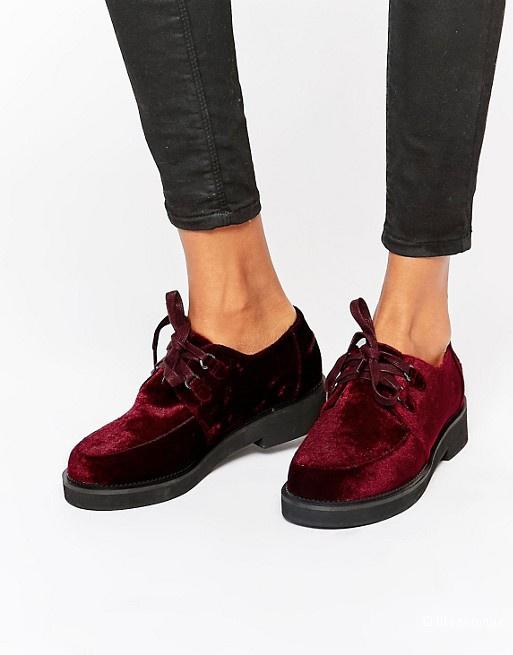 Новые бархатные туфли