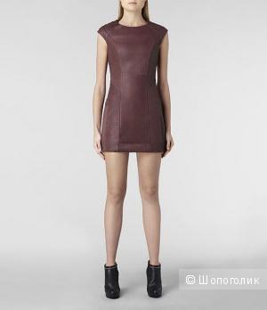 Allsaints кожаное платье Oxblood UK14/US10/EU42