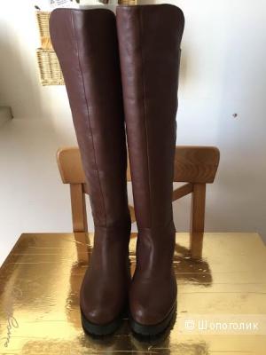 Сапоги-ботфорты  коричневые CORSOCOMO размер 37.