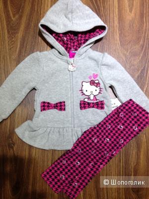 Hello Kitty флисовый костюмчик для маленкой модницы 9-12 мес ОРИГИНАЛ.Новый