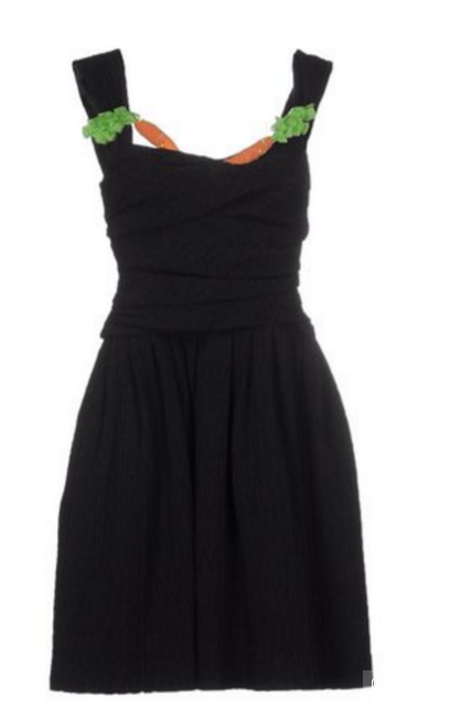 Черное платье MOSCHINO