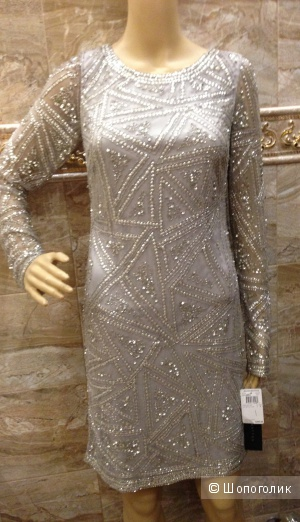 Aidan Mattox расшитое вручную дизайнерское коктейльное платье с ценником 385$