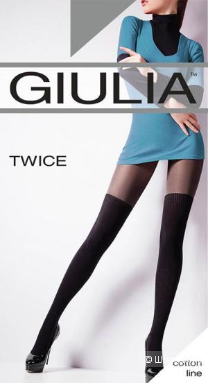 Сверхплотные темные колготки Giulia twice