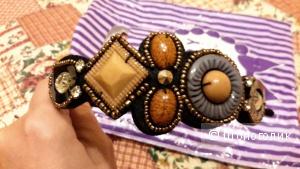 Ободок Lady Collection новый с бусинами