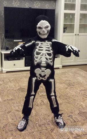 Маскарадный костюм скелета на рост 104-110 см