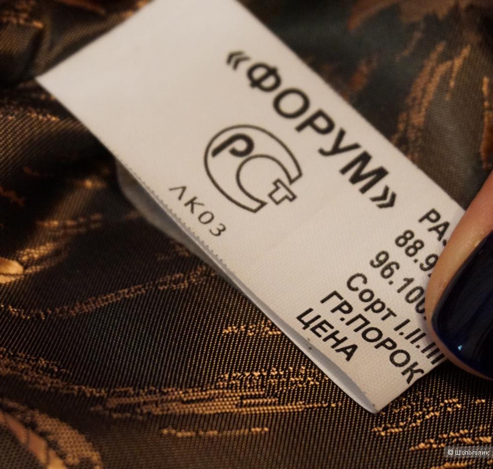 Продаю теплое зимнее пальто из каракуля с норкой 52-54 размера