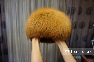 Продаю шапку из рыжей лисы 58 размера
